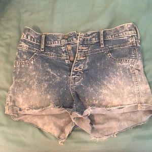 Hollister Blue Washed Jean High Waisted Shorts